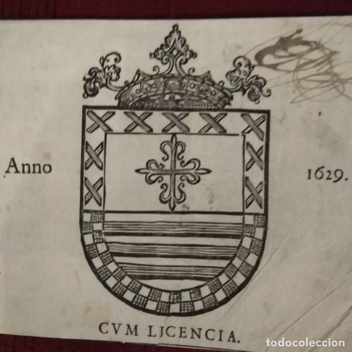 ESCUDO HERÁLDICO SIGLO XVII (Arte - Grabados - Antiguos hasta el siglo XVIII)