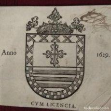Arte: ANTIGUO GRABADO HERÁLDICO, SIGLO XVII. Lote 234912475