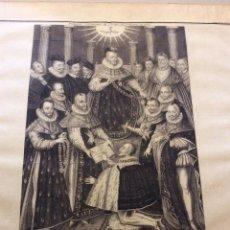 Arte: GRABADO SIGLO XVIII,PREMIERE CEREMONIE DE L'ORDRE DU ST. ESPIRIT EN 1579. Lote 234986135
