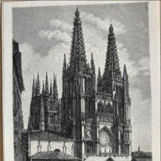 Arte: VISTA DE LA CATEDRAL DE BURGOS (CASTILLA, ESPAÑA), 1893. ANÓNIMO ALEMÁN. Lote 235060740