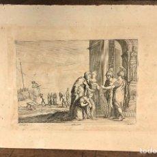 Arte: GRABADO A. SCHIAUONE. Q. BOEL. C. 1660. Lote 235095390