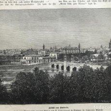 Arte: VISTA PANORÁMICA DE LA CIUDAD DE VALENCIA (ESPAÑA), 1883. ANÓNIMO ALEMÁN. Lote 235162520