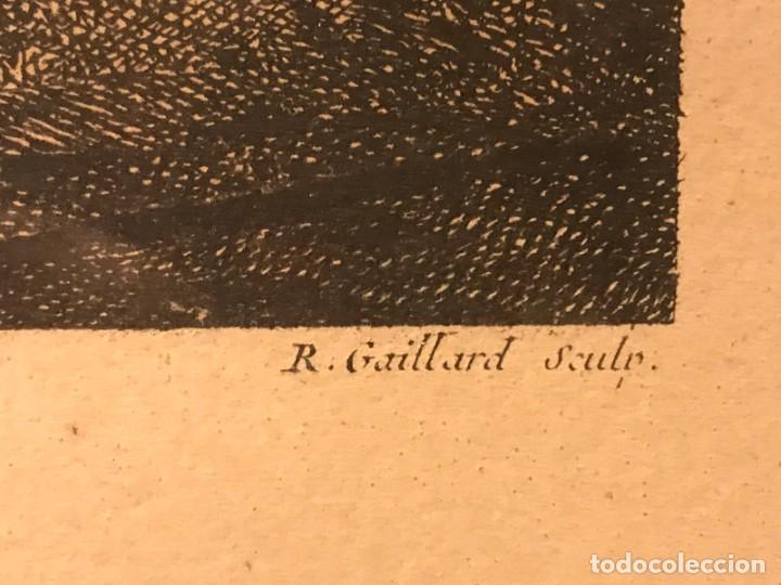"""Arte: GRABADO DE GAILLARD L´AGREABLE LEÇON """"La agradable lección"""" , CUADRO DE FRANÇOIS BOUCHER 1748 - Foto 5 - 235202120"""