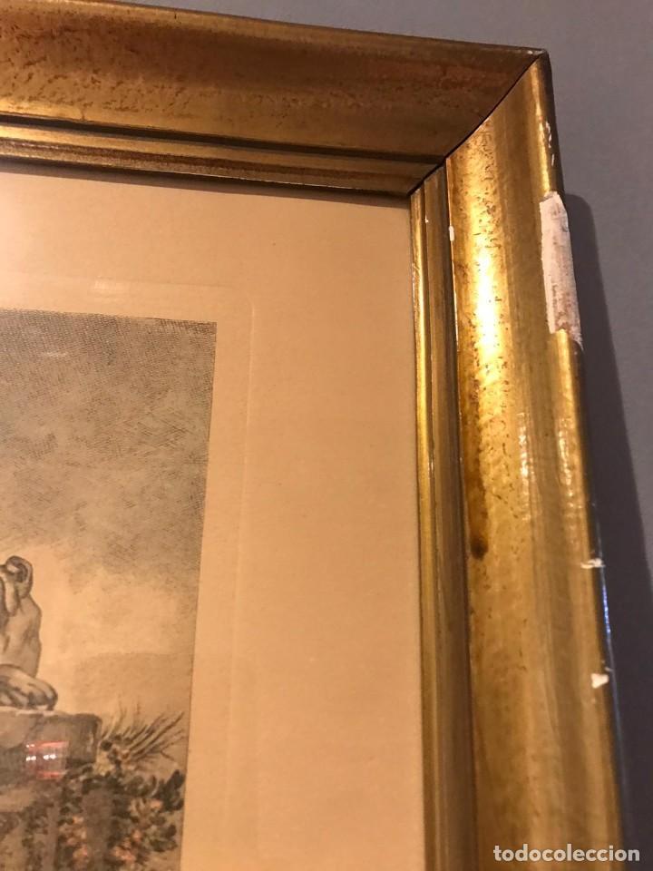 """Arte: GRABADO DE GAILLARD L´AGREABLE LEÇON """"La agradable lección"""" , CUADRO DE FRANÇOIS BOUCHER 1748 - Foto 12 - 235202120"""