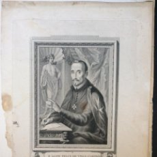 Arte: F.RANCISCO LOPE FELIX DE VEGA CARPIO ,GRABADO ORIGINAL SIGLO XVIII-POETA DRAMATURGO. Lote 235415850