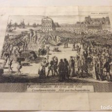 Arte: GRABADO ORIGINAL DE LA INQUISICIÓN,SIGLO XVIII. Lote 235439695