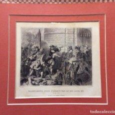 Arte: GRABADO ORIGINAL SIGLO XIX,ASALTO DE VALENCIENNES-ALAUX PINXT.- POURVOYEUR SC.-IMPR. F. CHARDON.-. Lote 235498515