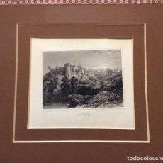 Arte: CHATEAU DE GILLES DE RETZ ,GRABADO ORIGINAL SIGLO XIX. Lote 235500280