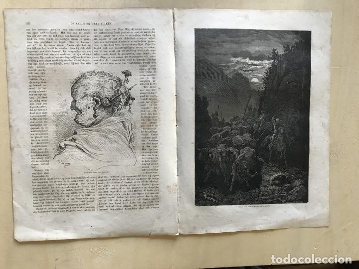 Arte: Anciana y ganaderos de Valencia (España), hacia 1870. Gustavo Doré/Gauchar:Brunier - Foto 2 - 235646860