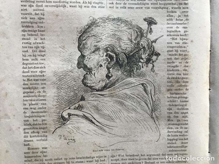 Arte: Anciana y ganaderos de Valencia (España), hacia 1870. Gustavo Doré/Gauchar:Brunier - Foto 3 - 235646860