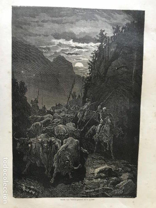 Arte: Anciana y ganaderos de Valencia (España), hacia 1870. Gustavo Doré/Gauchar:Brunier - Foto 4 - 235646860
