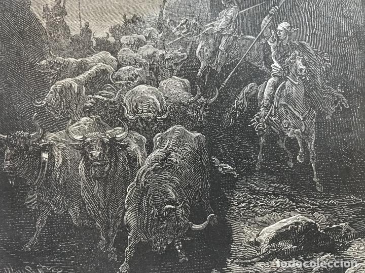 Arte: Anciana y ganaderos de Valencia (España), hacia 1870. Gustavo Doré/Gauchar:Brunier - Foto 7 - 235646860