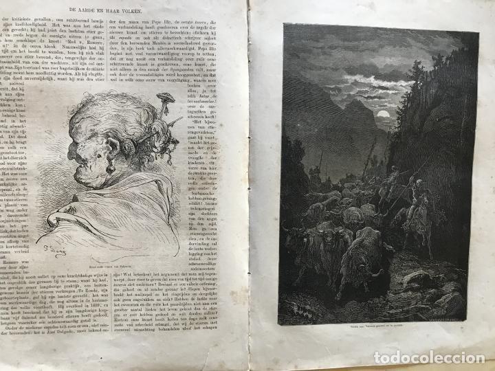 ANCIANA Y GANADEROS DE VALENCIA (ESPAÑA), HACIA 1870. GUSTAVO DORÉ/GAUCHAR:BRUNIER (Arte - Grabados - Modernos siglo XIX)