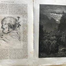 Arte: ANCIANA Y GANADEROS DE VALENCIA (ESPAÑA), HACIA 1870. GUSTAVO DORÉ/GAUCHAR:BRUNIER. Lote 235646860
