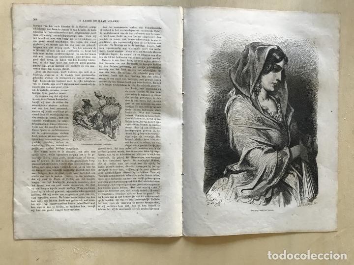 LABRADORES Y MUJER DE VALENCIA (ESPAÑA), HACIA 1870. GUSTAVE DORÉ/SALVIONI (Arte - Grabados - Modernos siglo XIX)