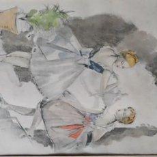 Arte: JOSE M. FLORIT. 1949. GRAVADO CON ACUARELA. Lote 235703180