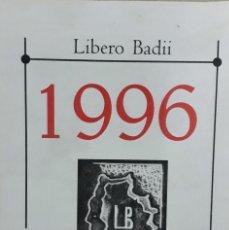 Arte: LIBERO BADII. CALENDARIO ARTÍSTICO 1996. Lote 235793805