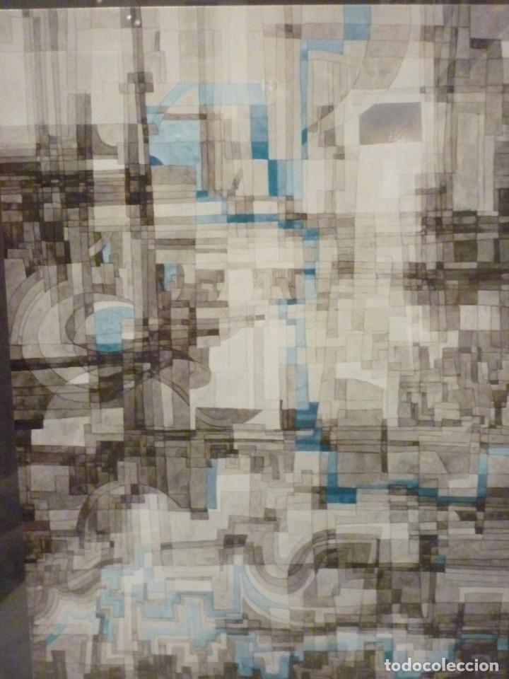 GRABADO ABSTRACTO DE JOAN CLARET I COROMINAS-1971 (Arte - Grabados - Contemporáneos siglo XX)