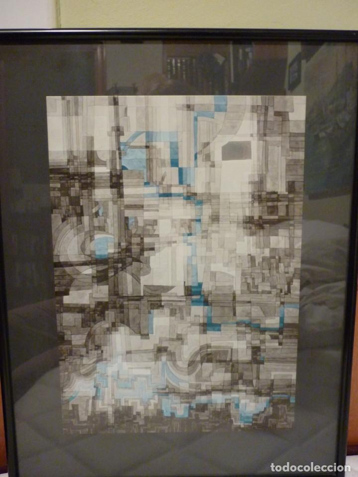 Arte: GRABADO ABSTRACTO DE JOAN CLARET I COROMINAS-1971 - Foto 2 - 235992900