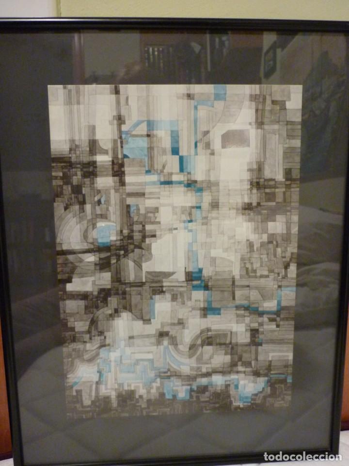 Arte: GRABADO ABSTRACTO DE JOAN CLARET I COROMINAS-1971 - Foto 3 - 235992900