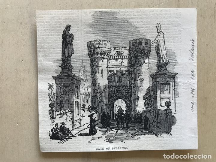 Arte: Torres de Quart en Valencia (España), 1866. Anónimo - Foto 2 - 235999485