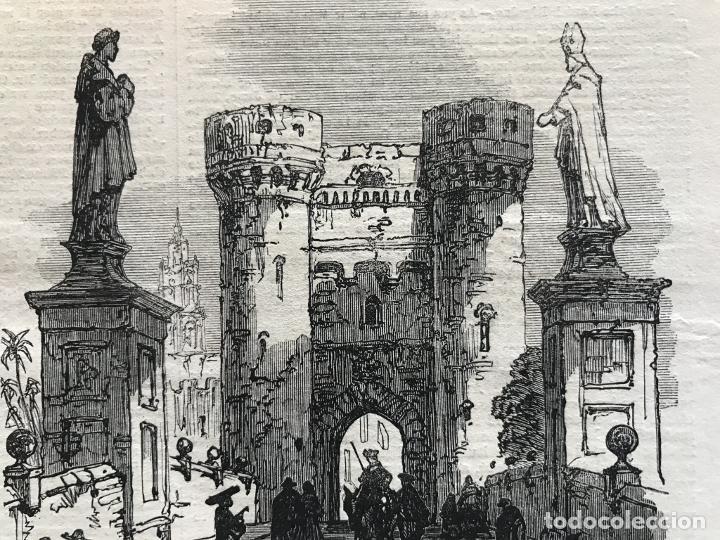 Arte: Torres de Quart en Valencia (España), 1866. Anónimo - Foto 3 - 235999485