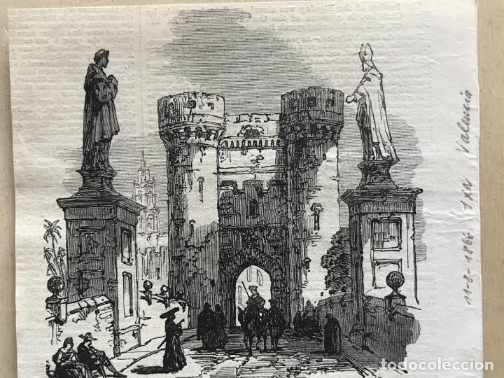 TORRES DE QUART EN VALENCIA (ESPAÑA), 1866. ANÓNIMO (Arte - Grabados - Modernos siglo XIX)