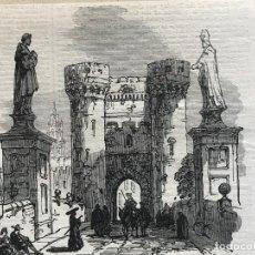 Arte: TORRES DE QUART EN VALENCIA (ESPAÑA), 1866. ANÓNIMO. Lote 235999485