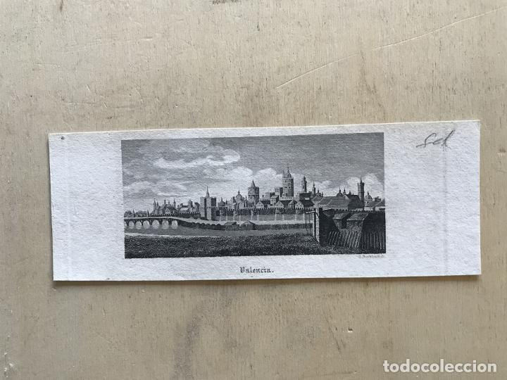 Arte: Vista panorámica de la ciudad de Valencia (España), hacia 1850. D. Burkhart - Foto 3 - 236005875