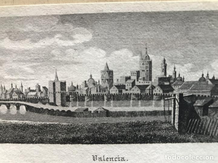 Arte: Vista panorámica de la ciudad de Valencia (España), hacia 1850. D. Burkhart - Foto 6 - 236005875