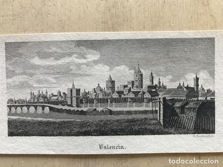 Arte: Vista panorámica de la ciudad de Valencia (España), hacia 1850. D. Burkhart - Foto 2 - 236005875