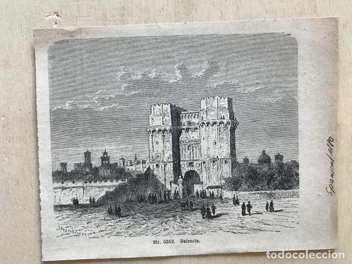 Arte: Torres de los Serranos en Valencia (España), 1880. Strassberper - Foto 2 - 236012705