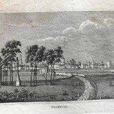 Arte: VISTA PANORÁMICA DE LA CIUDAD DE VALENCIA (ESPAÑA), 1834. ANÓNIMO. Lote 236029495