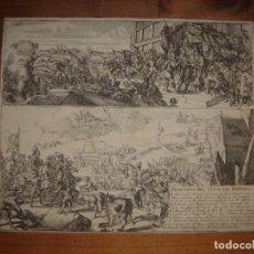 Arte: EXCEPCIONAL GRABADO ASEDIO DE AMBERES,TERCIOS, COLONIA, ORIGINAL, LEDESMA/HOOGHE, 1682, EN ESPAÑOL. Lote 236034065