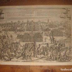 Arte: EXCEPCIONAL GRABADO SITIO Y TOMA DE TOURNAY, TERCIOS, ROMA, ORIGINAL , 1647,GRAN ESTADO. Lote 236035200