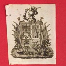Arte: GRABADO AL ACERO SIGLO XVIII EX-LIBRIS CASTILLO. Lote 236112660