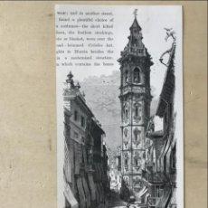 Arte: TORRE DE SANTA CATALINA EN VALENCIA Y FUENTE GÓTICA EN JÁTIVA (VALENCIA), CA. 1850. Lote 236132330