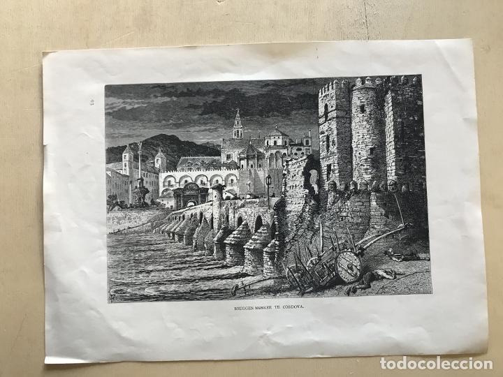 Arte: Puente romano y mezquita de Córdoba (España), hacia 1885. Whymper - Foto 2 - 236140760