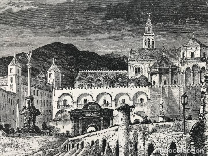 Arte: Puente romano y mezquita de Córdoba (España), hacia 1885. Whymper - Foto 4 - 236140760