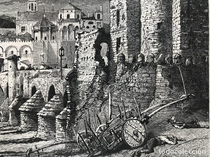 Arte: Puente romano y mezquita de Córdoba (España), hacia 1885. Whymper - Foto 5 - 236140760