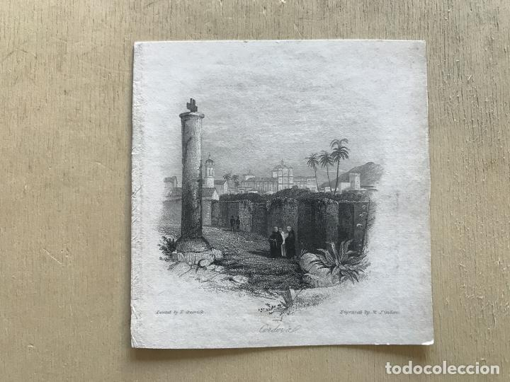 Arte: Vista parcial de la ciudad de Córdoba (España), hacia 1850. Greswick/Finden - Foto 2 - 236146060