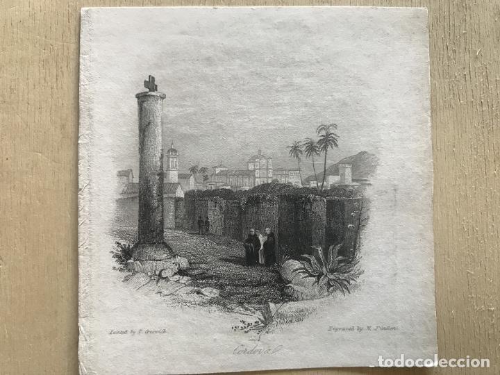 Arte: Vista parcial de la ciudad de Córdoba (España), hacia 1850. Greswick/Finden - Foto 3 - 236146060