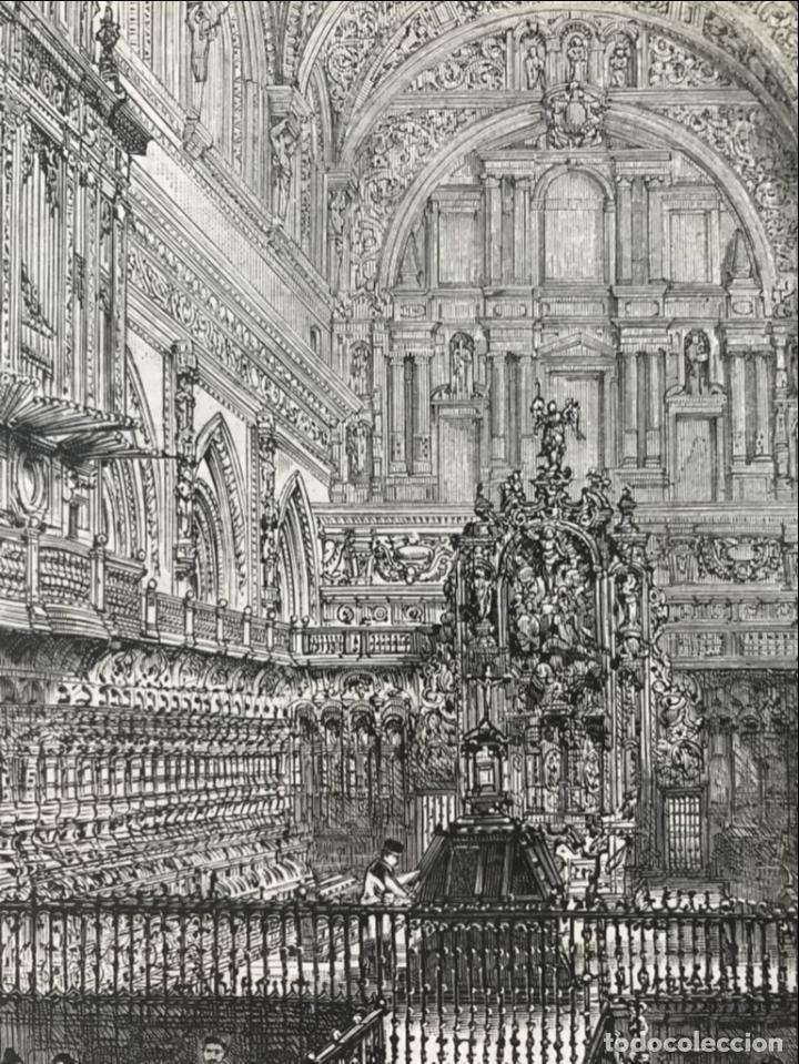 Arte: Vista del interior de la catedral de Córdoba (España), 1888. Anónimo - Foto 3 - 236148545