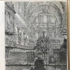 Arte: VISTA DEL INTERIOR DE LA CATEDRAL DE CÓRDOBA (ESPAÑA), 1888. ANÓNIMO. Lote 236148545