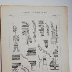 Arte: ANTIGUO GRABADO:PERFILES Y MOLDURAS SIGLO XVI (FRANCISCO I- ENRIQUE II) LÁMINA 12 ED. BAJOT. Lote 236259305