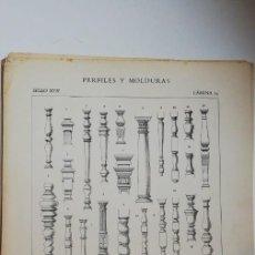 Arte: ANTIGUO GRABADO:PERFILES Y MOLDURAS SIGLO XVII (ENRIQUE IV - LUIS XIII) LÁMINA 14 ED. BAJOT. Lote 236259600