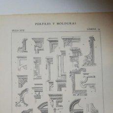Arte: ANTIGUO GRABADO: ARQUITECTURA :PERFILES Y MOLDURAS SIGLO XVII ( LUIS XIV) LÁMINA 24. Lote 236261690