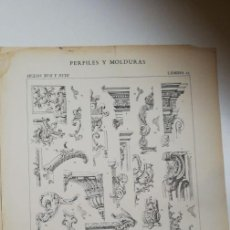 Arte: ANTIGUO GRABADO: ARQUITECTURA :PERFILES Y MOLDURAS SIGLO XVII-XVIII (LUIS XIV ) LÁMINA 25 ED. BAJOT. Lote 236261810