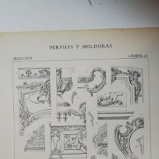 Arte: ANTIGUO GRABADO: ARQUITECTURA :PERFILES Y MOLDURAS SIGLO XVII (LUIS XIV ) LÁMINA 26 ED. BAJOT. Lote 236261975