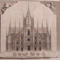 Arte: 1704 PETER VAN DER AA VISTA DE LA CATEDRAL DE MILÁN DUOMO MILANO CATHEDRALIS TEMPLI MEDIOLANENSIS. Lote 236837395